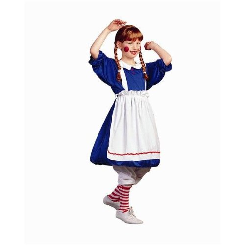 Rag Doll Striped Costumes (RG Costumes Rag Doll Costume, Child Large, Blue)