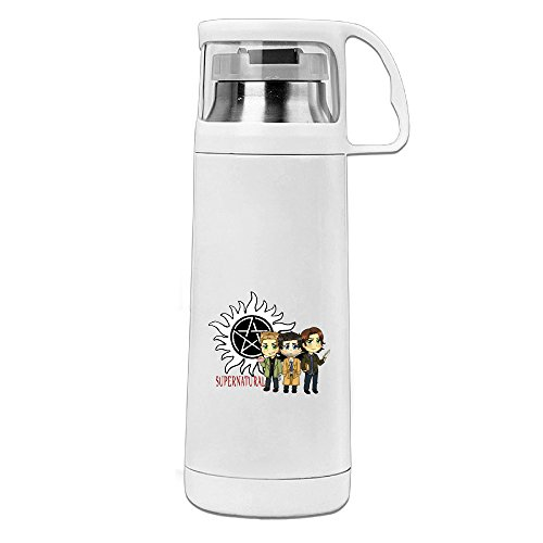 (Bekey Supernatural Logo Stainless Steel Vacuum Travel Mug With Handle Cup Water Bottle)