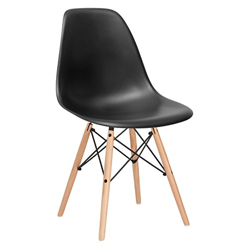 Poly and Bark Vortex Side Chair, Black