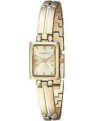Anne Klein Womens 10-5404CHGB Gold-Tone Dress Watch