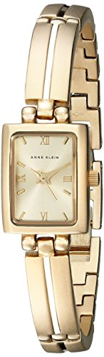 Gold Rectangular Wrist Watch - 1