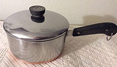 VTG Revere Ware SS Copper Bottom 2qt Saucepan Screw Handle