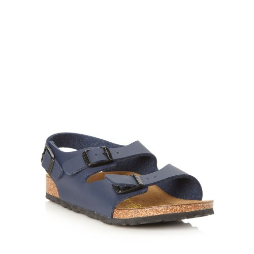 Birkenstock Boy's 'Roma'Sandales Bleu marine Double sangle