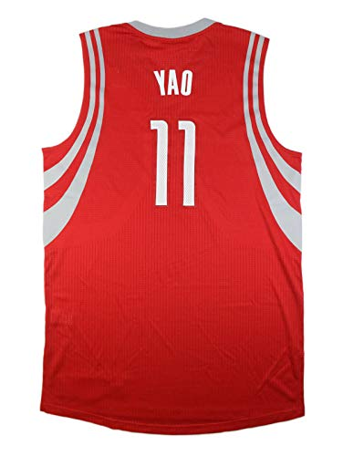 YAO MING HOUSTON ROCKETS GAME ISSUED RED ROAD GAME READY PRO CUT JERSEY ()