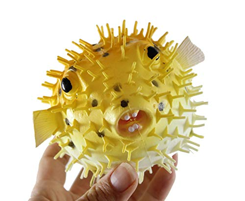 Curious Minds Busy Bags 1 Large Puffer Porcupine Fish Water Squirter - Pool & Bath Squirt Toy