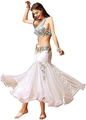 LLLingc Falda de Danza del Vientre Disfraz de Danza del Vientre ...