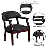 Flash Furniture Leather Guest Chair, Black