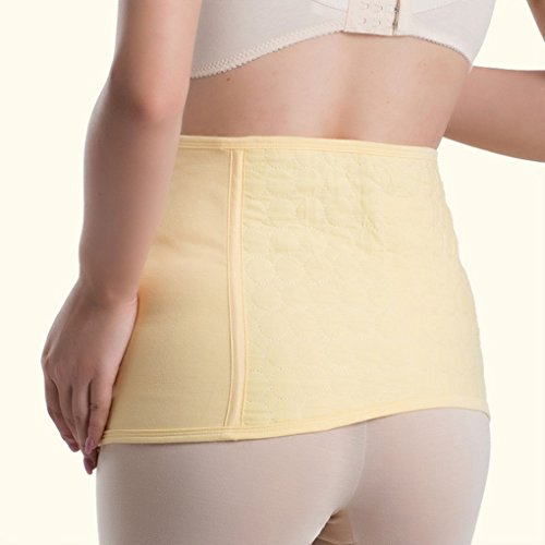Vogue of Eden Women Maternity Cotton Velcro Postpartum Belly Band Yellow