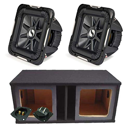 Kicker 11S15L74 Solobaric L7 Subwoofer Dual 15″ Custom Vent Sub Enclosure Box