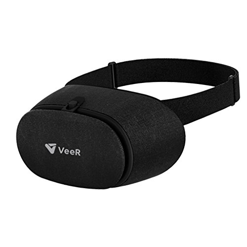 VeeR Fabric 3D VR Headset, Virtually Reality goggles, VR glasses with HD lens, Handmade Fabric Body, compatible with iPhone and Android smartphones within 4–6 inches screen by VeeR