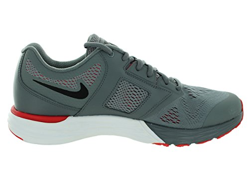 Nike Mens Tri Fusion Run Scarpa Da Corsa Cool Grey / University Rosso / Bianco / Nero