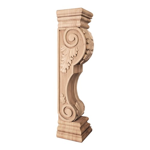 Acanthus Cabinet - One Pair- Acanthus Wood Fireplace / Mantel Corbels- 8