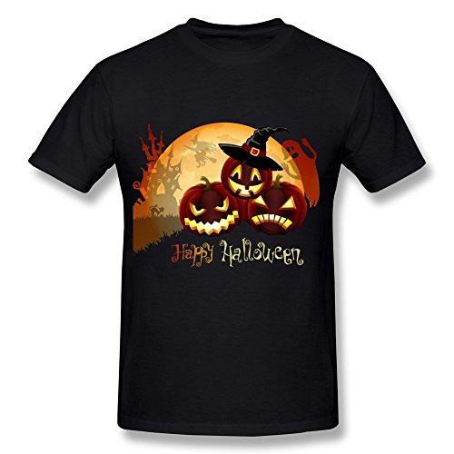 WunoD Men's Happy Halloween T-shirt Size -