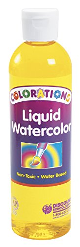 Colorations Liquid Watercolor (Colorations Liquid Watercolor Paint, Yellow - 8 oz. (Item # LWYE))