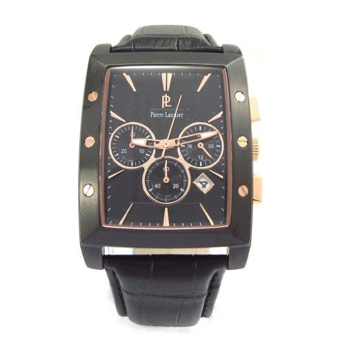 Pierre Lannier [K2585] - Wrist watch for men 'Pierre Lannier' coppered tight black steel (mpt).