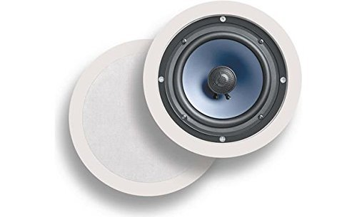 Polk Audio RC60i 2-way Premium In-Ceiling 6.5 Round Speakers, Set of 2, Damp and Humid Indoor/Outdoor Placement - Bath, Kitchen, Covered Porches