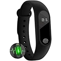 Mobizu Smart Fitness Band M2 with Activity Tracker | Fitband with Heart Rate Monitor, Health Activity, Smart Bracelet Wristband Compatible with Xiaomi Mi 6X (Black)