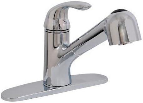 EZ-FLO 10384 Non-metallic Pull-out Spout Kitchen Faucet Low Lead