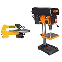 DEWALT DW788 1.3 Amp 20-Inch Variable-Speed Scroll Saw & WEN 4208 8-Inch 5-Speed Drill Press