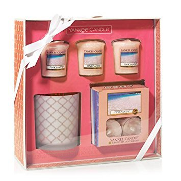Yankee Candle Set - Yankee Candle Pink Sands Tea Light And Votive Candles Boxed Gift Set Gift Set