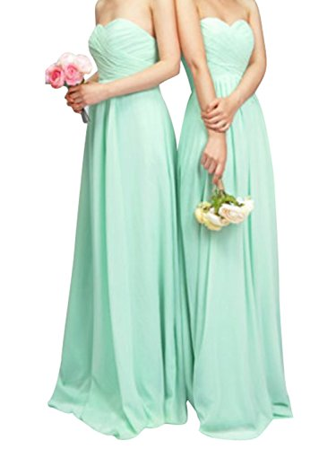 Long Mint (Clothink Convertible Wrap Maxi Long Dress Mint Green Wedding Dresses Women M)