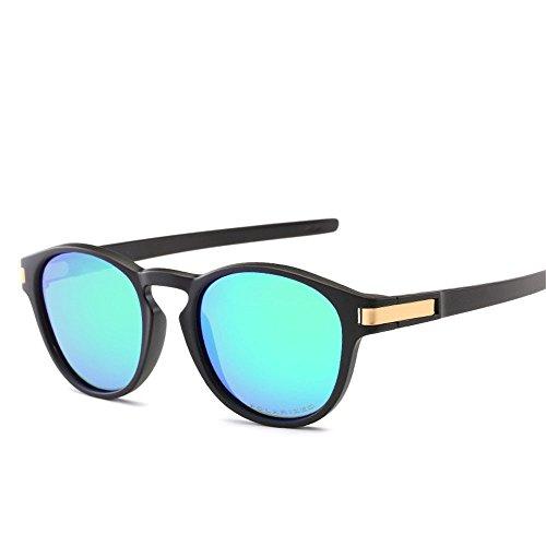 Chahua Lunettes de soleil Lunettes de soleil brillant de la mode rétro mode lunettes haute brillance, D.