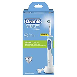 Oral-B Vitality CrossAction - Cepillo de dientes eléctrico recargablecon tecnología Braun