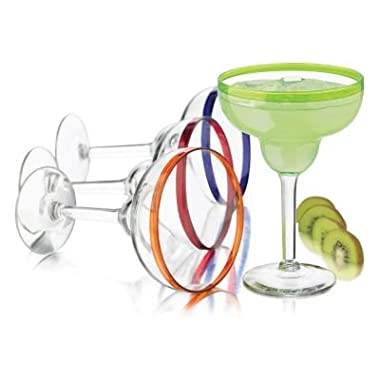 Libbey Mucho Colors 4-pc. Margarita Glass Set