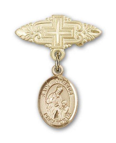 Icecarats Or Bijoux De Créateurs Rempli R. Broche De Badge Charme Ambrose Avec Croix 1 X 3/4
