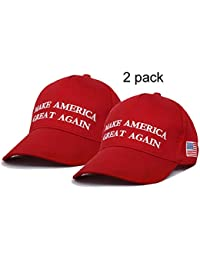 Men Women Make America Great Again Hat Adjustable USA MAGA Fitted Cap 2020  Red 5557515806a8