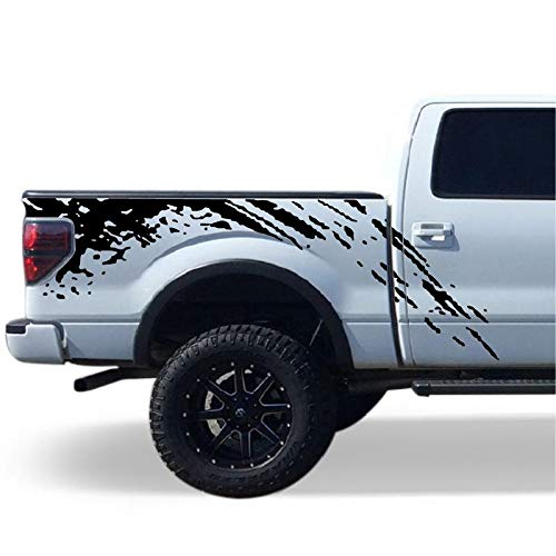 Bubbles Designs Decal Sticker Vinyl Bed mud Splash Set Compatible with Ford F150 2009-2017