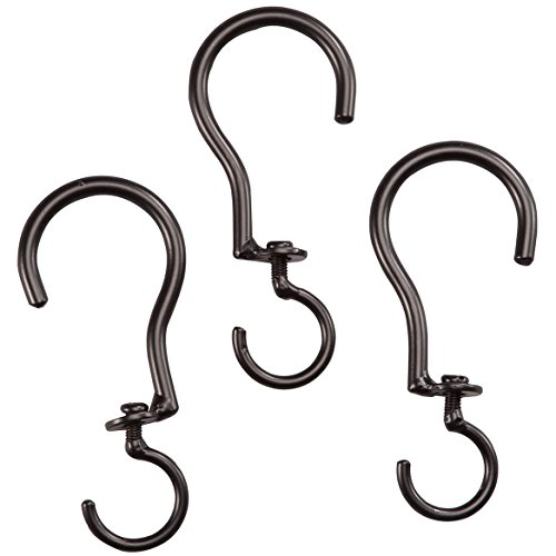 Fox Valley Traders Swivel Basket Hooks, Set of 3