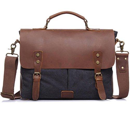 borsa lavoro tela Borsa vintage in SHOUTIBAO borsetta khaki messenger spesa uomo tracolla grey dark viaggio valigetta tfPYt