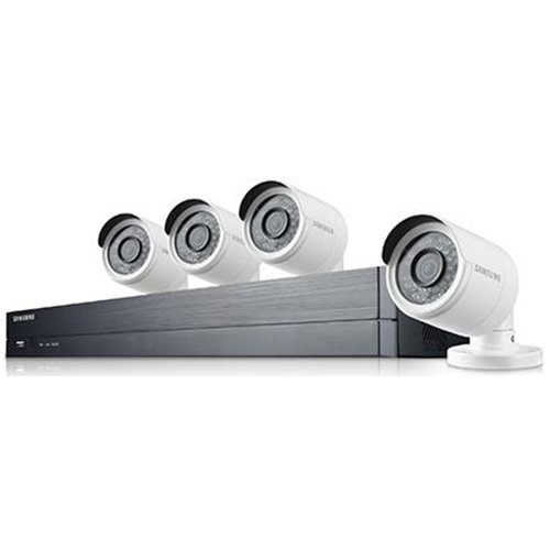 SDH-B73043 – Samsung Wisenet 4 Channel Full HD Video All-In-One Security System with 4 Bullet Cameras.