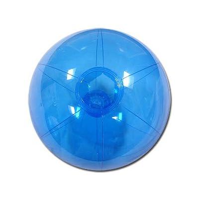 Beachballs - 12-inch Translucent Blue Beach Ball: Sports & Outdoors
