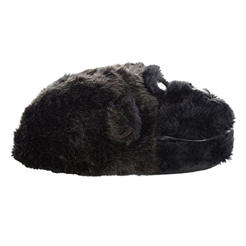 Boys Black Gorilla Novelty Fun Slippers Cadbury With Non Slip Soles New - UK 1-2