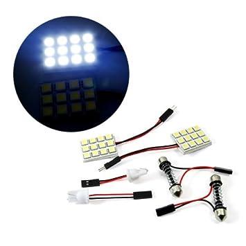 t10 12 smd led super white festoon for car interior light dome bulb adapter lamp indicator