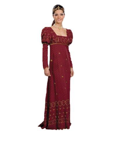19th Century Women's Costumes (Women's 19th Century Josephine Dress Theater Costume Large Maroon)