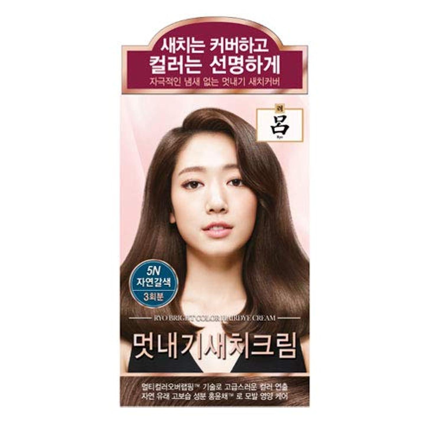 スティーブンソン偽善者敬意を表するアモーレパシフィック呂[AMOREPACIFIC/Ryo] ブライトカラーヘアアイクリーム 5N ナチュラルブラウン/Bright Color Hairdye Cream 5N Natural Brown