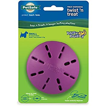 PetSafe Busy Buddy Twist 'n Treat Dog Toy, Use with Food or Treats