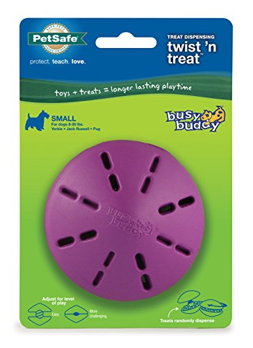 PetSafe Twist 'n Treat Dog Toy, Use with Food or Treats -