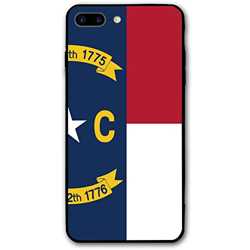 Flag Of North Carolina IPhone 8 Plus Screen Protector Cover Case Otterbox Ultra Thin Anti-Scratch Shock-Absorption Full Protective Cover 5.5 Inch Back (Back Raleigh Store)