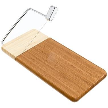 Prodyne 126-B Bamboo Cheese Slicer, 12-Inch by 6-Inch Board