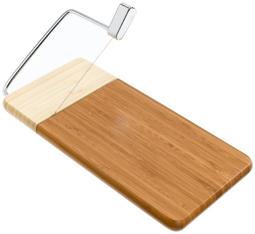 Prodyne 126-B Bamboo Cheese Slicer, 12-Inch by 6-Inch Board