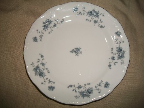 Blue Garland Bread Butter Plates - JOHANN HAVILAND BREAD/BUTTER BLUE GARLAND