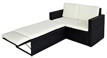 Rattan gartenmöbel sofa  Amazon.de: SVITA Poly Rattan Lounge Gartenset Sofa Garnitur ...