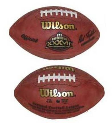 - Wilson Super Bowl XXXVII Official Game Football Tampa Bay Buccaneers vs. Oakland Raiders