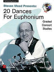 De Haske Music Steven Mead Presents 20 Dances for Euphonium (Treble Clef) De Haske Play-Along Book Series by Steven - Mead Steven Presents