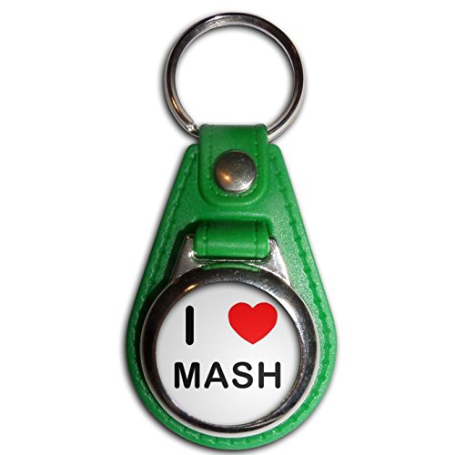 I Love Mash - Green Plastic / Metal Medallion Coulor Key (Mash Green)