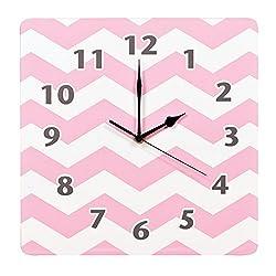 Product of Trend Lab Wall Clock, Pink Sky Chevron - Clocks [Bulk Savings]